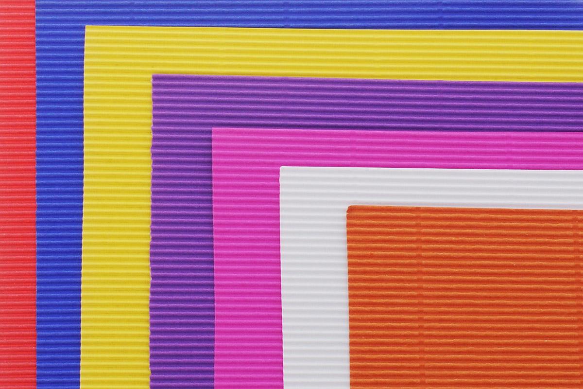 Апплика Цветная бумага гофрированная Солнышко 8 листов