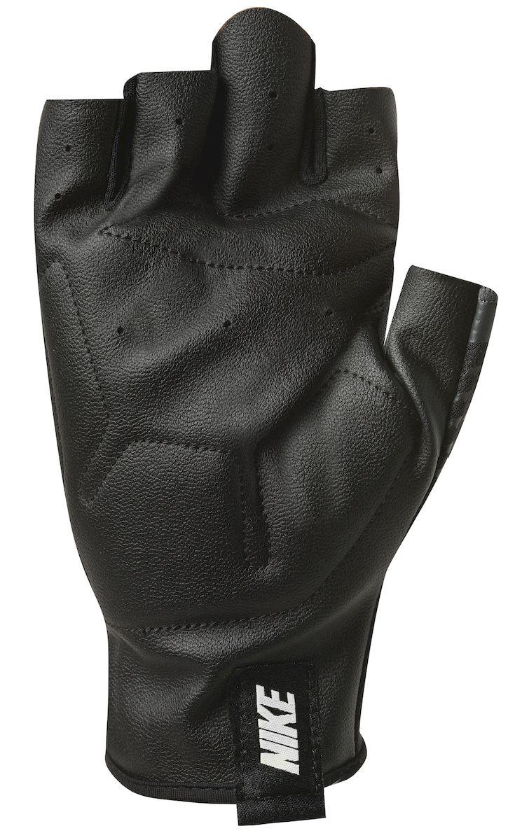 Мужские перчатки для зала Nike, цвет: черный, белый. Размер XL