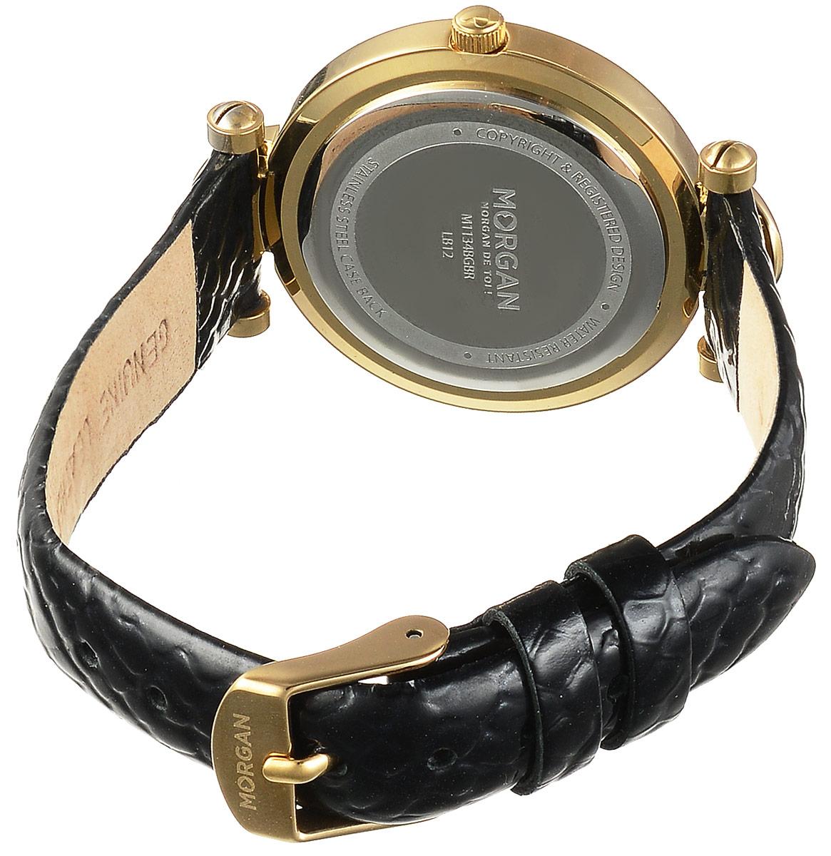 Часы наручные женские Morgan, цвет: золотой, черный. M1134BGBR ( M1134BGBR )