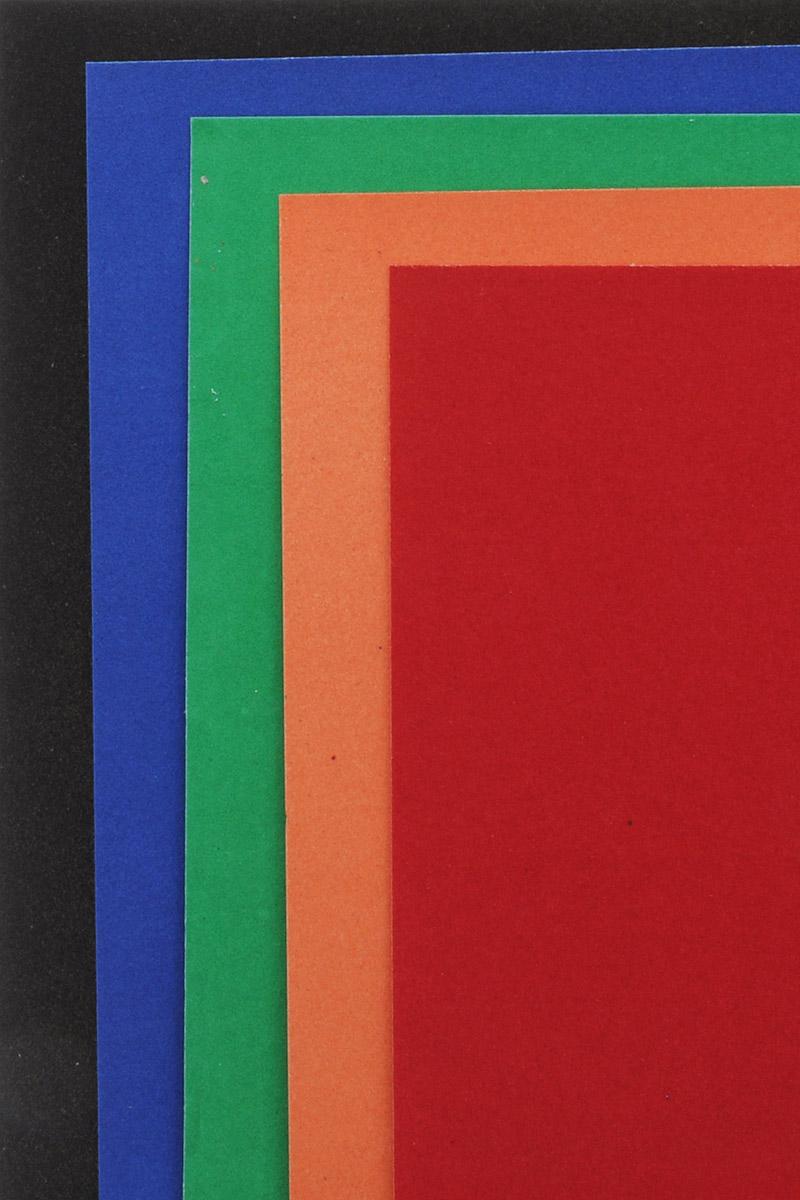 Апплика Цветная бумага бархатная Котенок 5 листов