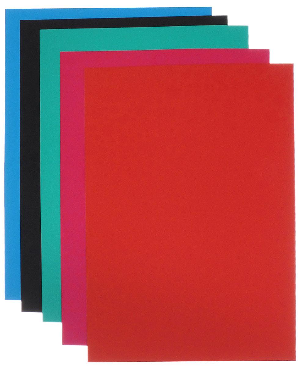 Апплика Цветной картон с глянцевым узором Счастливые сердечки 5 листов