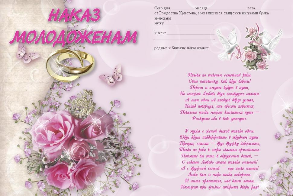 Поздравление на свадьбу своими словами для молодоженов 575