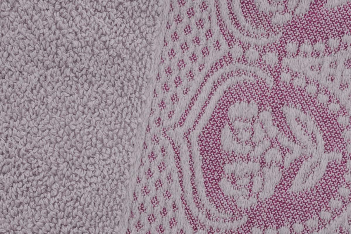 "Полотенце Arya ""Bella"", цвет: лиловый, 50 х 90 см"