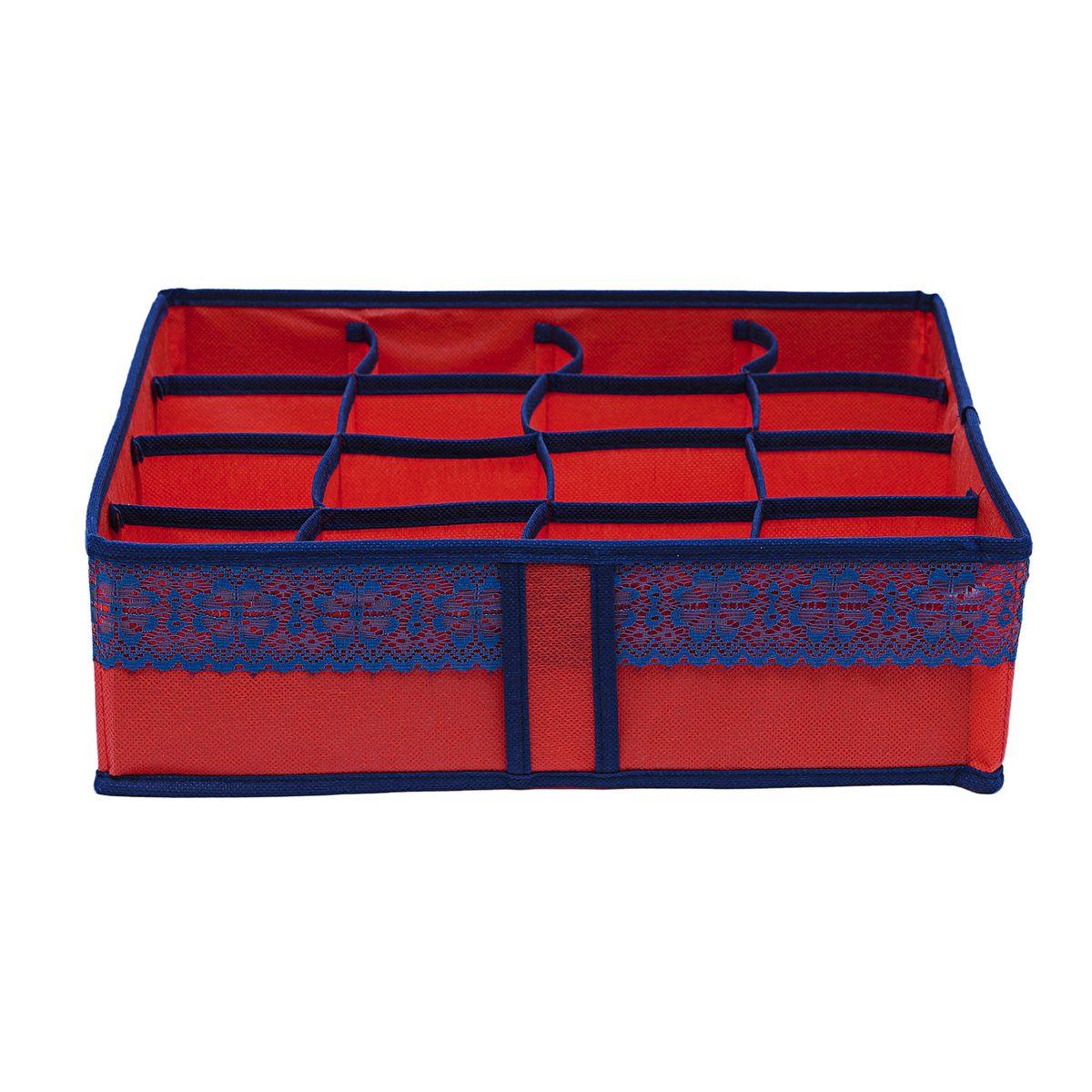 """Органайзер для хранения вещей Homsu """"Rosso"""", 16 ячеек, 35 x 35 x 10 см"""