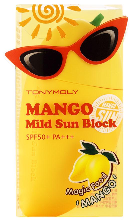 Tonymoly Солнцезащитный крем-блок для лица с экстрактом манго Magic Food Mango Mild Sun Block SPF50 Pa+++, 45 г