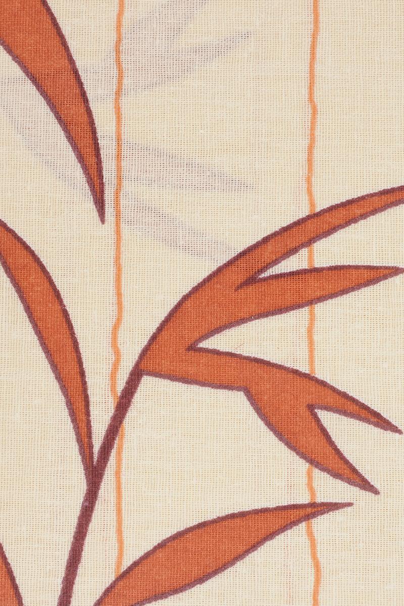 """Комплект белья Катюша """"Ветка"""", 1,5-спальный, наволочки 70х70, цвет: молочный, оранжевый, бордовый"""