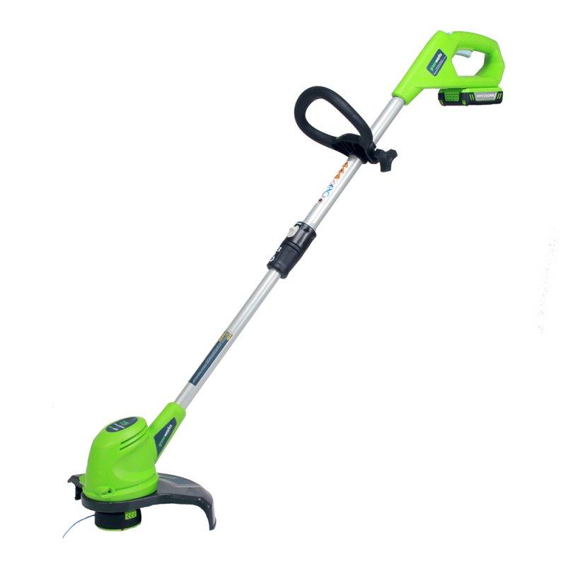 Триммер струнный GreenWorks 24В (без аккумуляторной батареи и зарядного устройства) ( 2100107 )