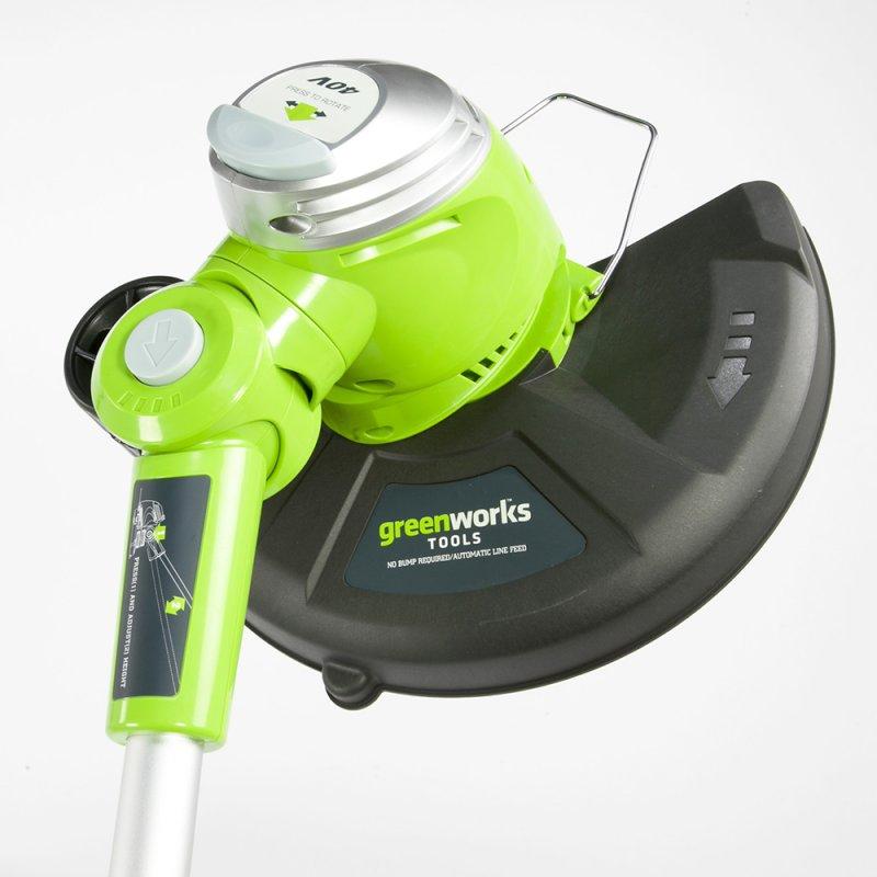 Триммер струнный GreenWorks 40В (без аккумуляторной батареи и зарядного устройства) ( 21107 )