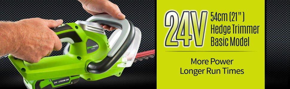 Кусторез GreenWorks 24В (без аккумуляторной батареи и зарядного устройства) ( 2200007 )