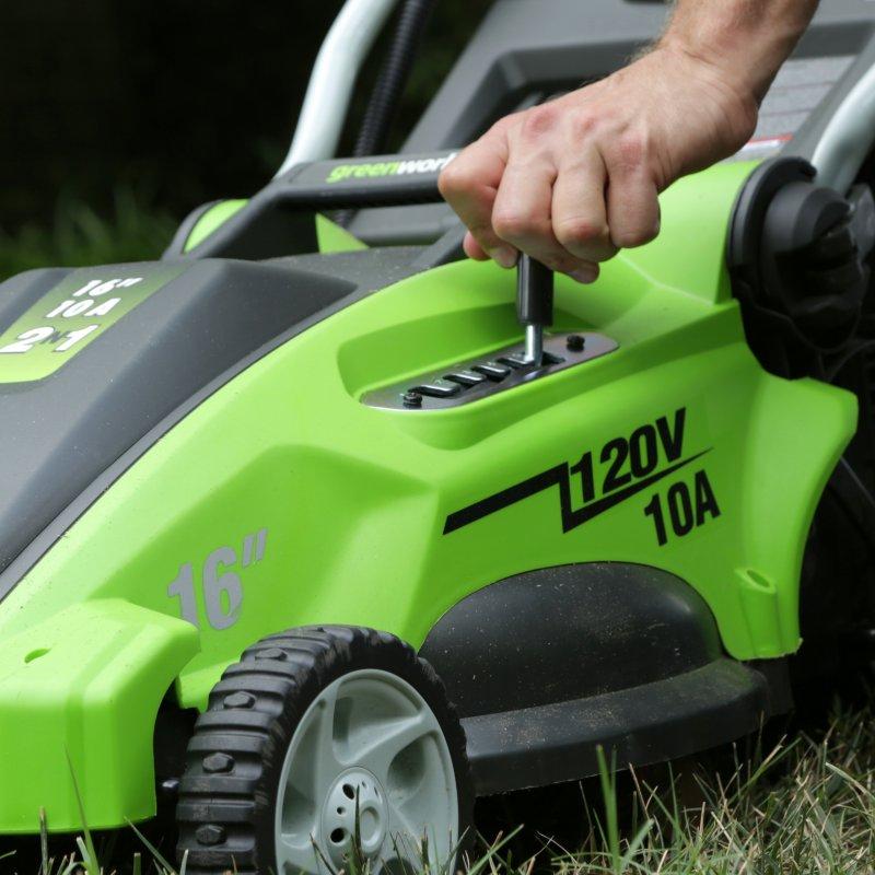 Газонокосилка GreenWorks 1200W 40см ( 25147 )