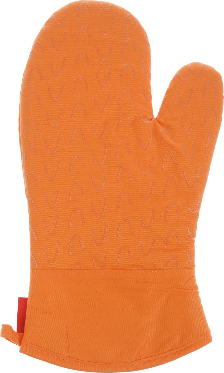 """Рукавица-прихватка Tescoma """"Presto Tone"""", цвет: оранжевый, 33 х 18 см"""