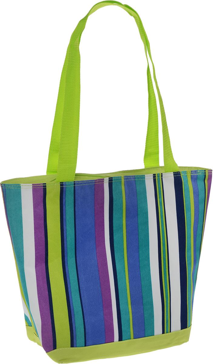 """Термосумка """"Green Glade"""", цвет: салатовый, белый, синий, 20 л. P1120 ( P1120 )"""
