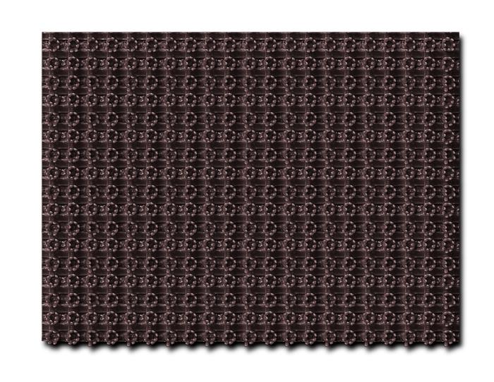 """Коврик """"Травка"""", на противоскользящей основе, 45х60 см, цвет: темно-коричневый"""