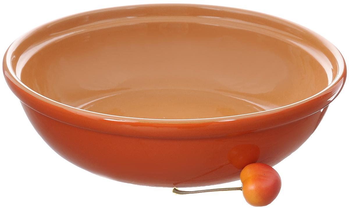 Салатник Борисовская керамика Модерн, цвет: оранжевый, желтый, 1 лРАД00000830_оранжевый, светло-коричневыйСалатник Борисовская керамика Модерн выполнен из высококачественной глазурованной керамики. Этот удобный салатник придется по вкусу любителям здоровой и полезной пищи. Благодаря современной удобной форме, изделие многофункционально и может использоваться хозяйками на кухне как в виде салатника, так и для запекания продуктов, с последующим хранением в нем приготовленной пищи. Посуда термостойкая. Можно использовать в духовке и микроволновой печи. Диаметр (по верхнему краю): 22 см. Высота стенки: 6 см.