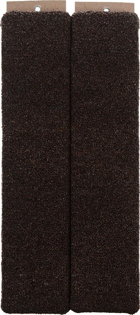 """Когтеточка """"Меридиан"""", настенная, угловая, цвет: темно-коричневый, белый, черный, длина 55 см"""