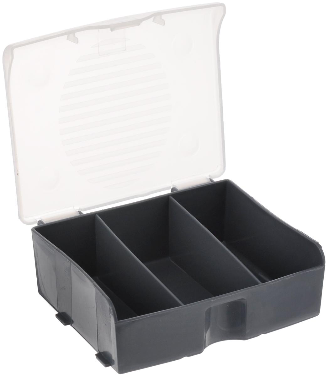 """Органайзер для мелочей """"Blocker"""", цвет: серый, 110 х 90 х 42 мм ( ПЦ3713СРСВИНЦ )"""