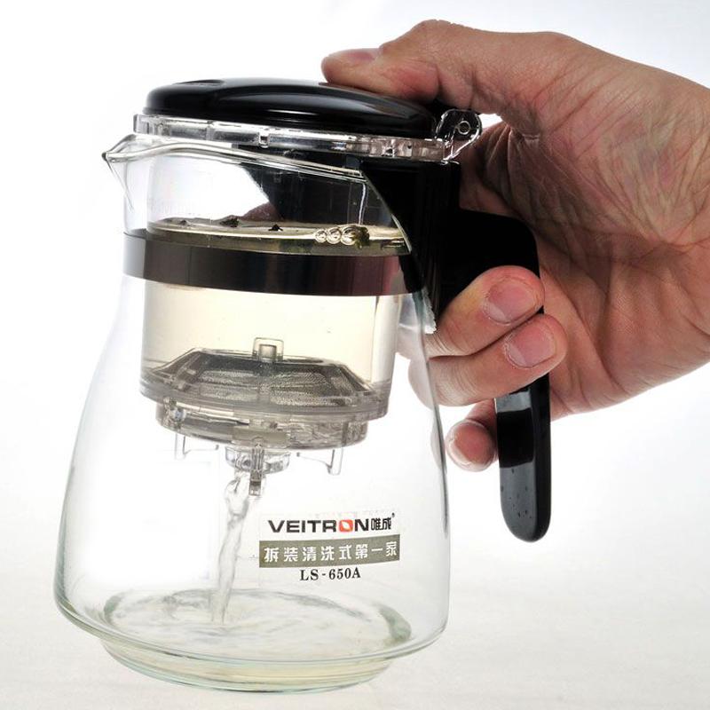"""Чайник заварочный """"Veitron"""", с кнопкой, 650 мл. LS-650А"""