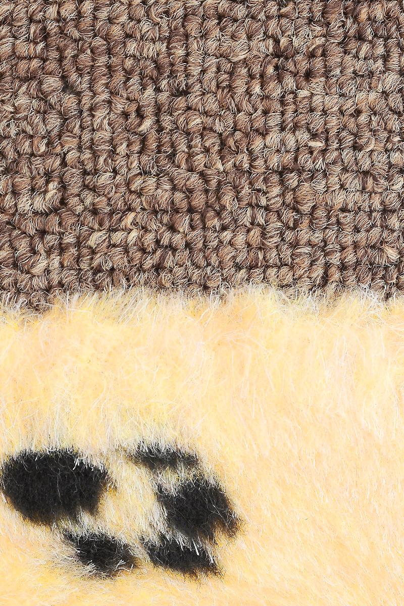 "Когтеточка ""Elite Valley"", угловая, цвет: коричневый, желтый, черный, 41 х 19 х 3 см"
