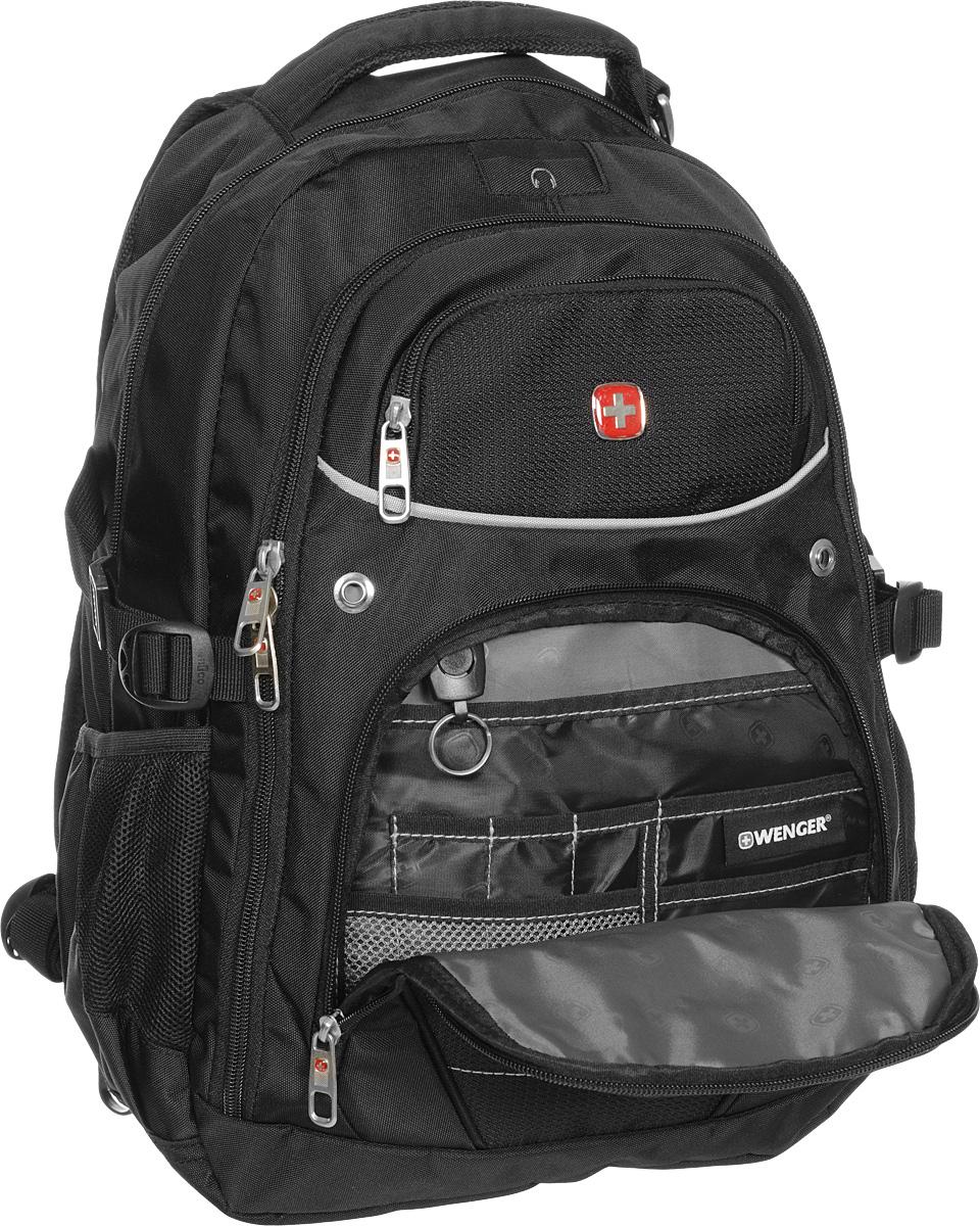 """Рюкзак """"Wenger"""", цвет: черный, 33 см х 20 см х 47 см, 32 л ( 3107202410 )"""