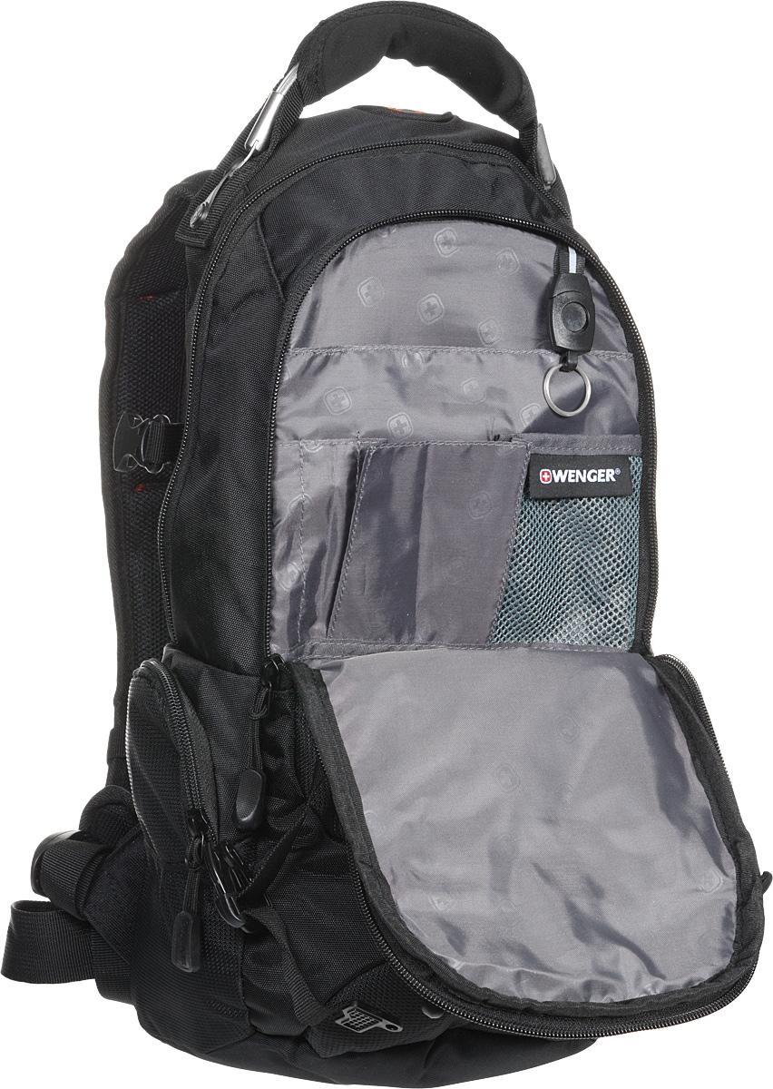 """Рюкзак Wenger """"Narrow Hiking Pack"""", цвет: черный, красный, 46 х 23 х 14 см, 19 л"""