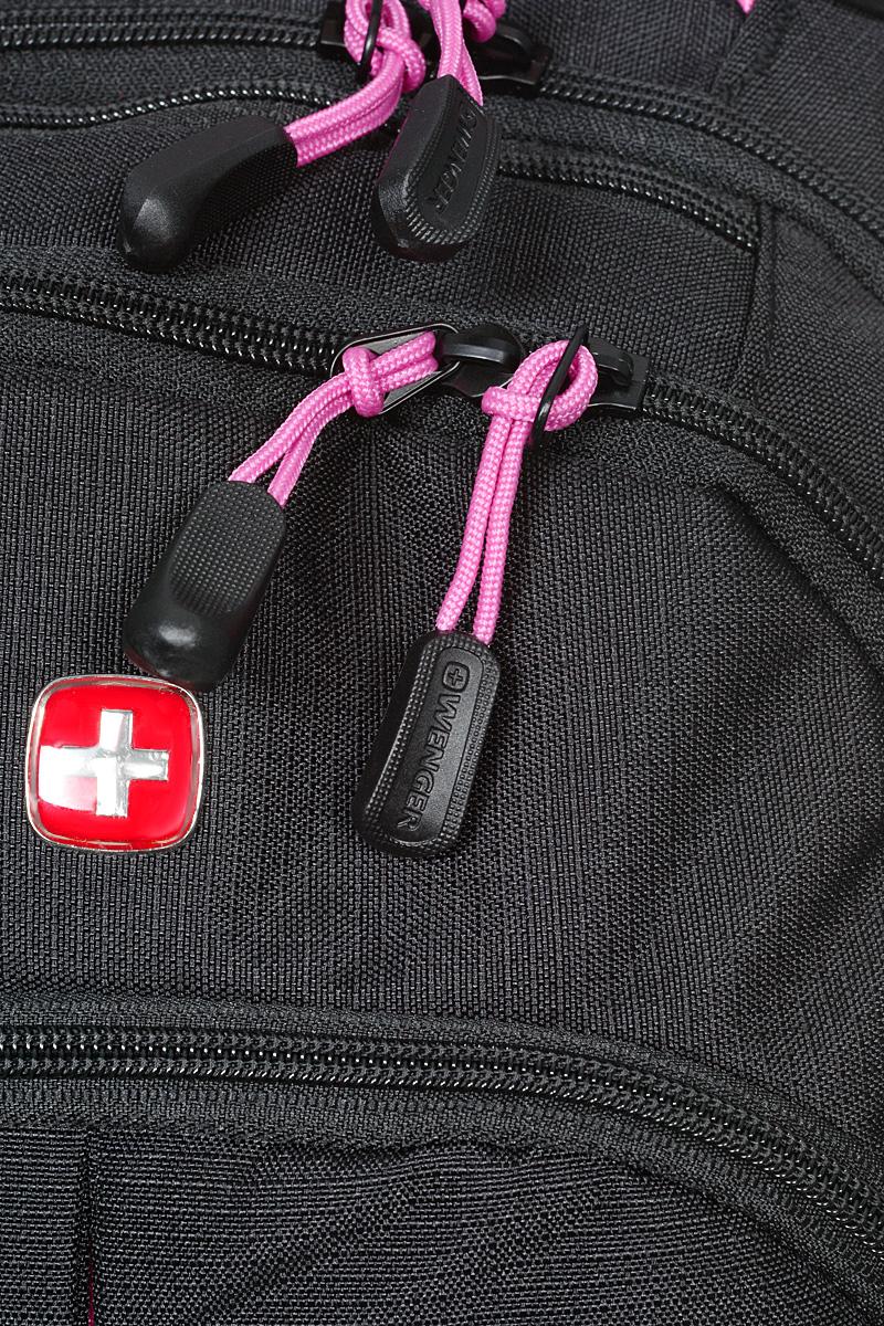"Рюкзак ""Wenger"", цвет: черный, розовый, 32 см х 15 см х 46 см, 22 л ( 3165208408 )"