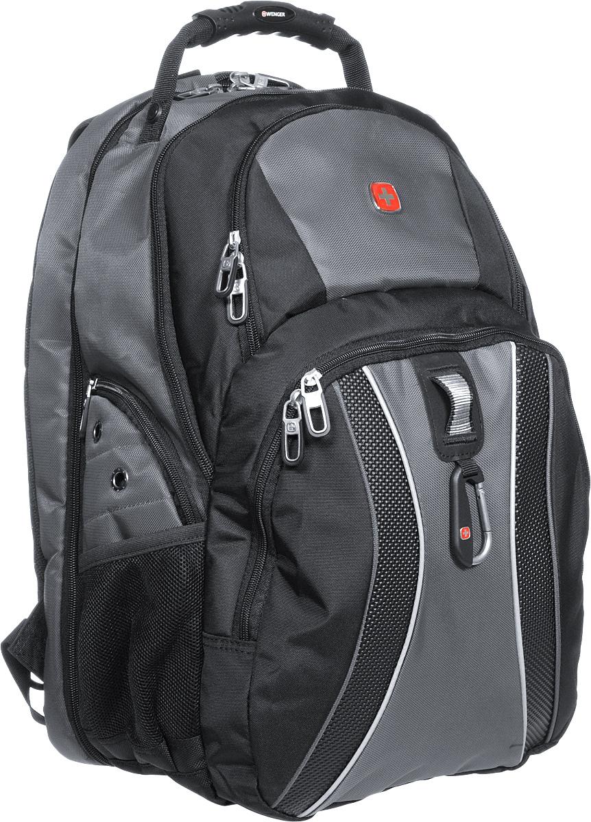 Рюкзак Wenger, цвет: черный, серый, 34 см х 23 см х 47 см, 36 л ( 12704215 )