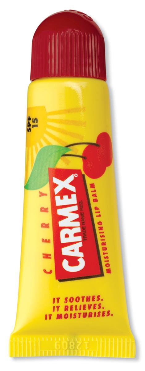 Carmex Бальзам для губ с ароматом вишни с защитой от воздействия ультрафиолета SPF15, туба в блистере, 10 г