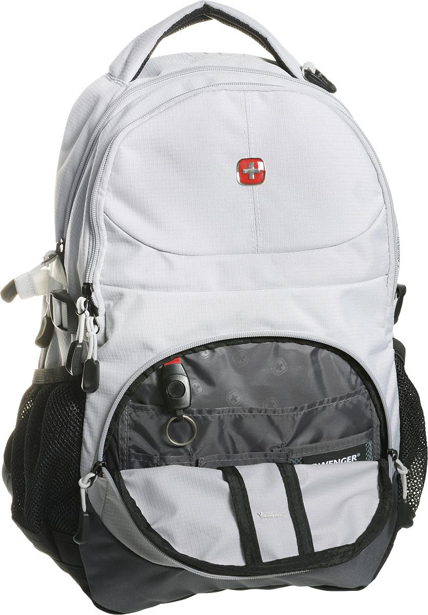 """Рюкзак """"Wenger"""", цвет: серый, черный, 33 х 15 х 45 см, 22 л"""