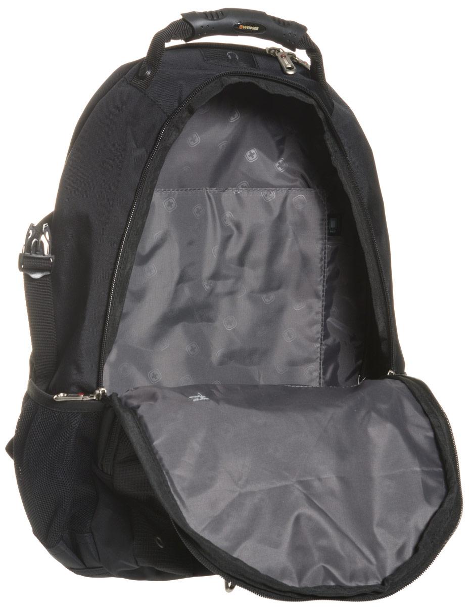 Рюкзак Wenger, цвет: черный, синий, 36 х 19 х 47 см, 32 л
