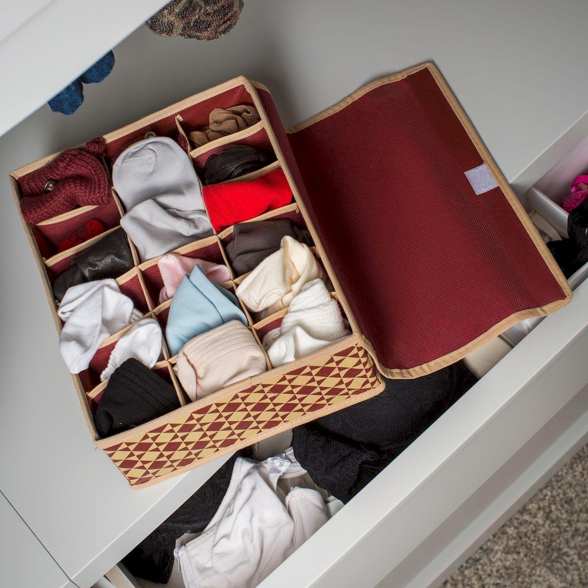 "Органайзер для хранения вещей Homsu ""Bordo"", 18 секций, 31 х 24 х 11 см"