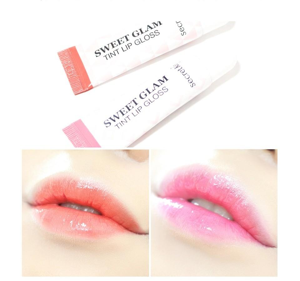 Secret Key Блеск для губ Sweet Glam Tint Lip Gloss, Coral Peach, 10 мл