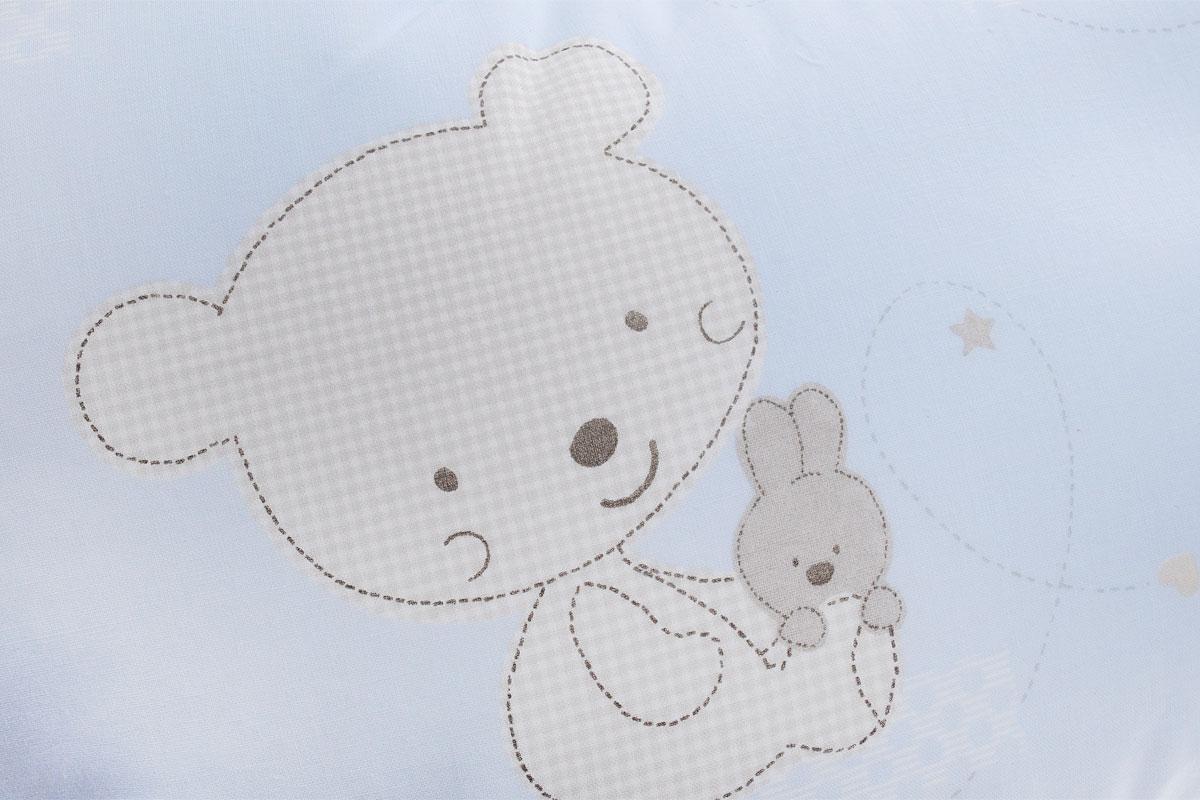 Plantex Подушка для кормящих и беременных мам Comfy Small Мишка и заяц цвет голубой