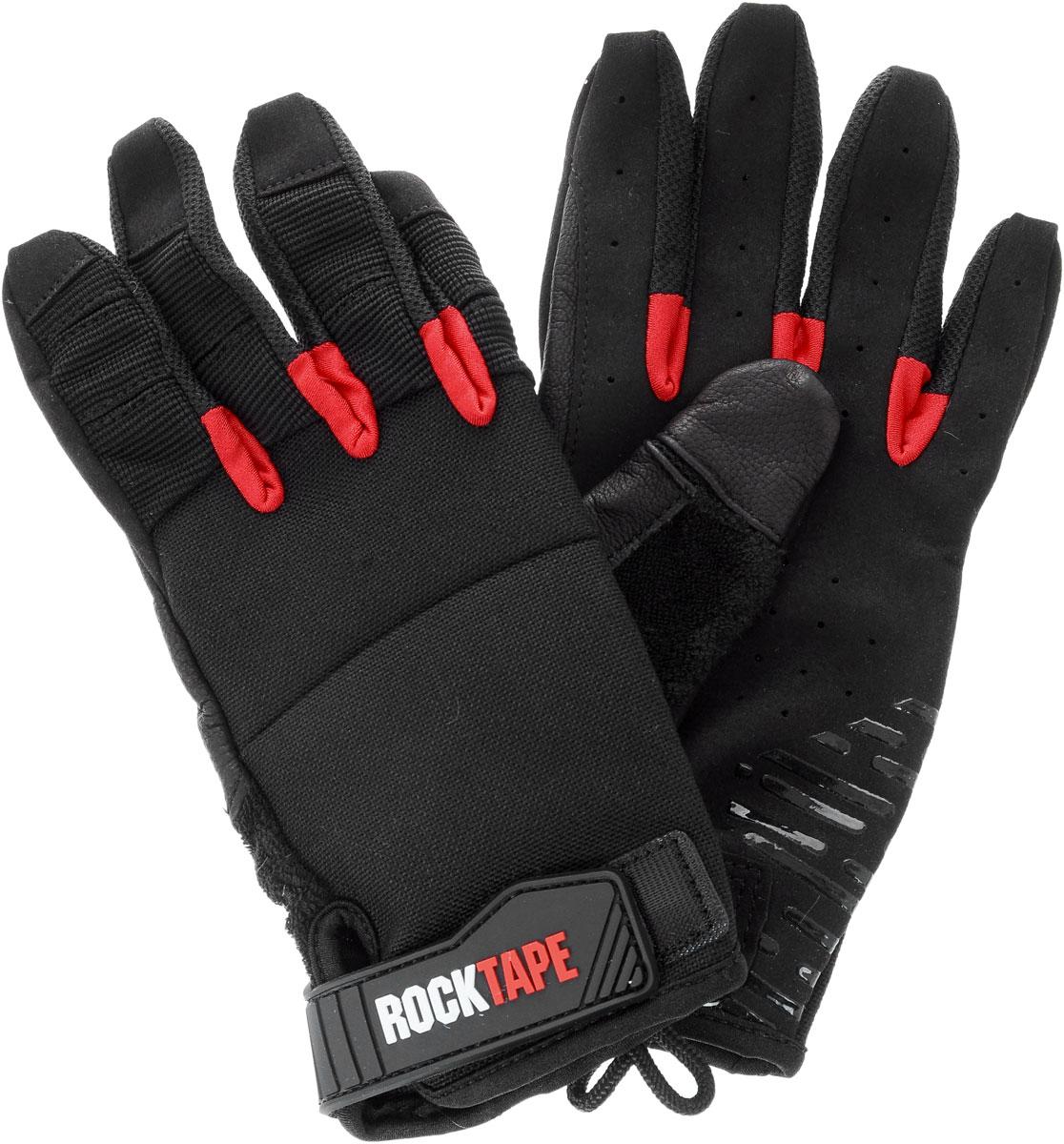 """Перчатки Rocktape """"Talons"""", цвет: черный, красный. Размер L"""