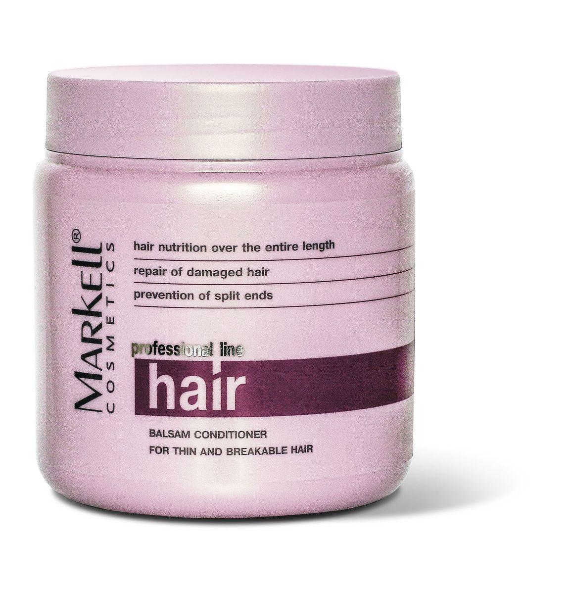 Markell Бальзам-ополаскиватель Professional Hair Line для тонких и ломких волос, 500 мл