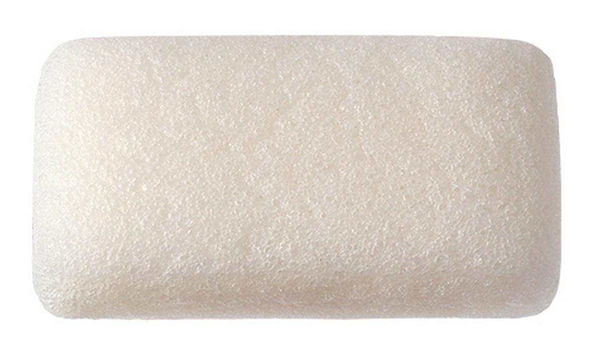 Clarette Конжаковый спонж натуральный для тела,белый