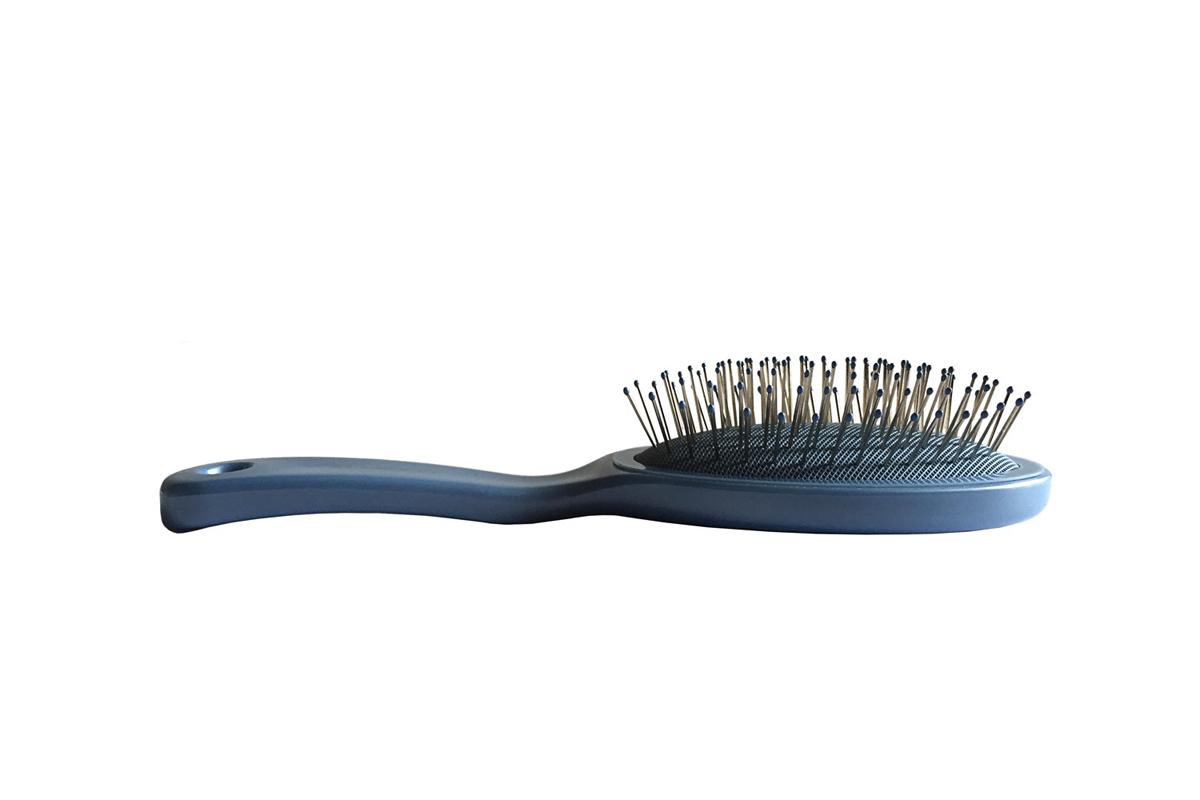 Clarette Щетка для волос малая с метал. зубцами, цвет: голубой