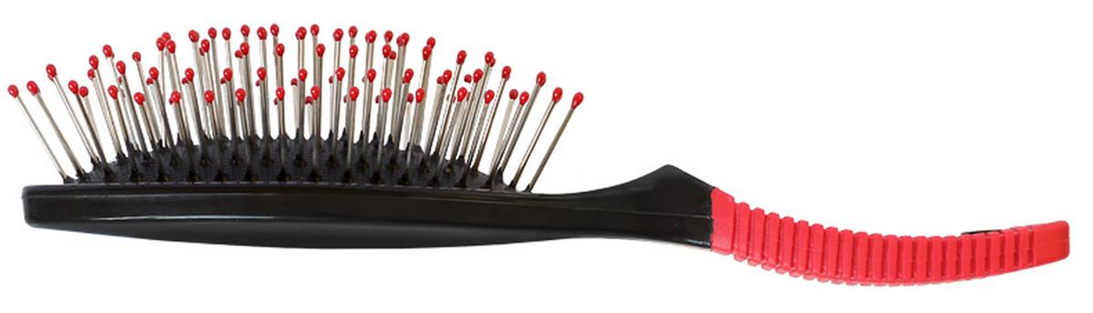 Silva Щетка для волос массажная малая с металлическими зубцами, цвет: черный