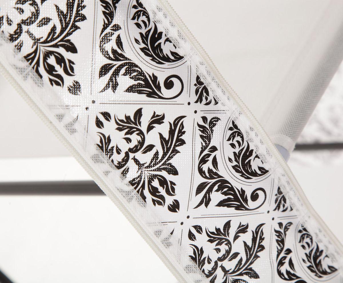 """Гардероб для хранения одежды """"HomeMaster"""", цвет: черный, белый, 79 х 42 см (93-160 см)"""