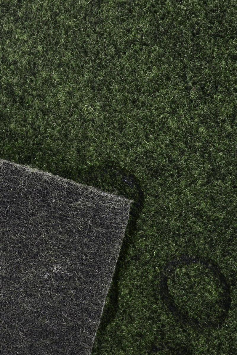 """Коврик придверный EFCO """"Оскар. Лапы"""", цвет: зеленый, 65 х 40 см"""