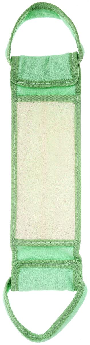 Мочалка для тела Мелисса, из люфы, цвет: салатовый