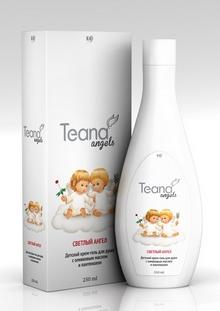 Teana Крем-гель для душа детский Светлый ангел, с оливковым маслом и пантенолом, 250 мл