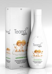Teana Шампунь-пенка детский Белоснежный ангел, мягкий, с оливковым маслом и ромашкой, 250 мл