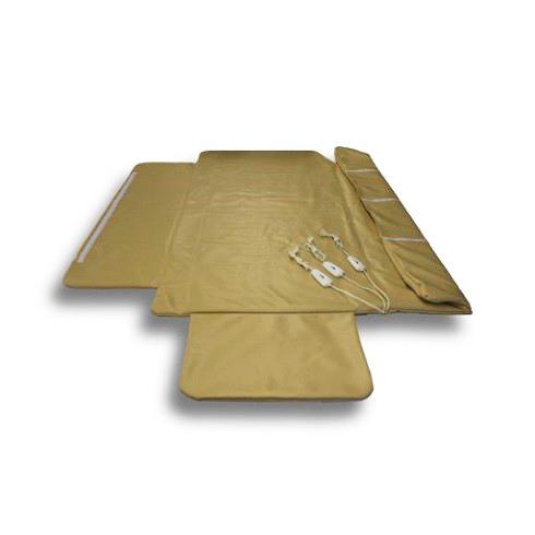 EcoSapiens Инфракрасное электроодеяло для косметологии Inframed, 180 см х 220 см. ES-78015ES-78015Размер 180 x 220 , что позволяет полностью обернуть человека. Одеяло для косметологических процедур с тремя автономными зонами прогрева: для груди, для живота, для ног. Каждая зона может отдельно включаться и выключаться с помощью переключателей, имеющих два режима нагрева. Режим 1 (40°С) используется для поддержания комфортной температуры. Режим 2 (55°С) используется при предварительном прогреве за 20-40 минут до применения или для интенсивного согревания. Карбоновая (инфракрасная) система нагрева. Две крайние позиции 0 используются для выключения изделия без визуального контроля. Максимальная температура на поверхности изделия не более 55 градусов.