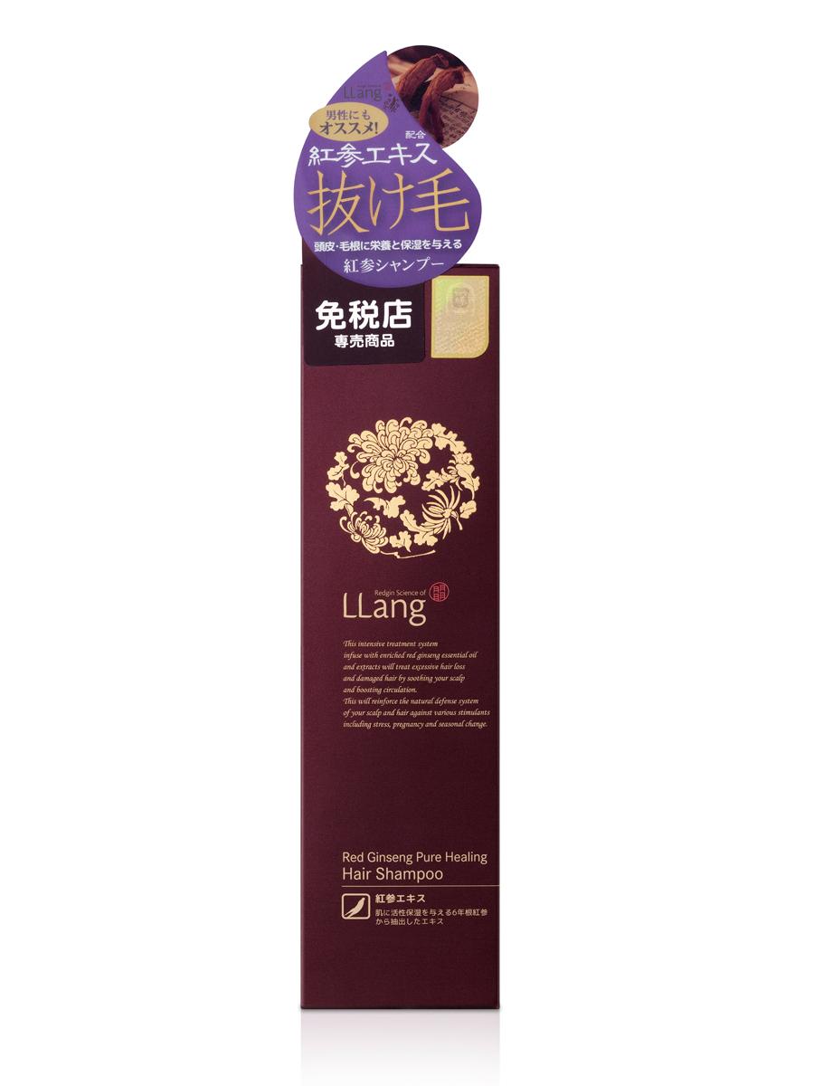 Llang Шампунь для волос восстанавливающий с красным женьшенем, 250 мл.