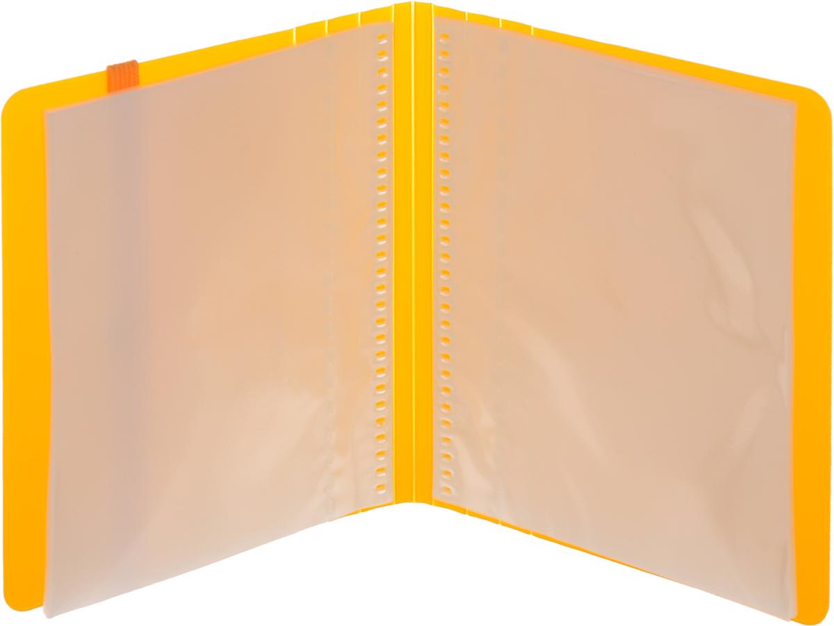Kokuyo Визитница Novita на 60 визиток цвет желтый