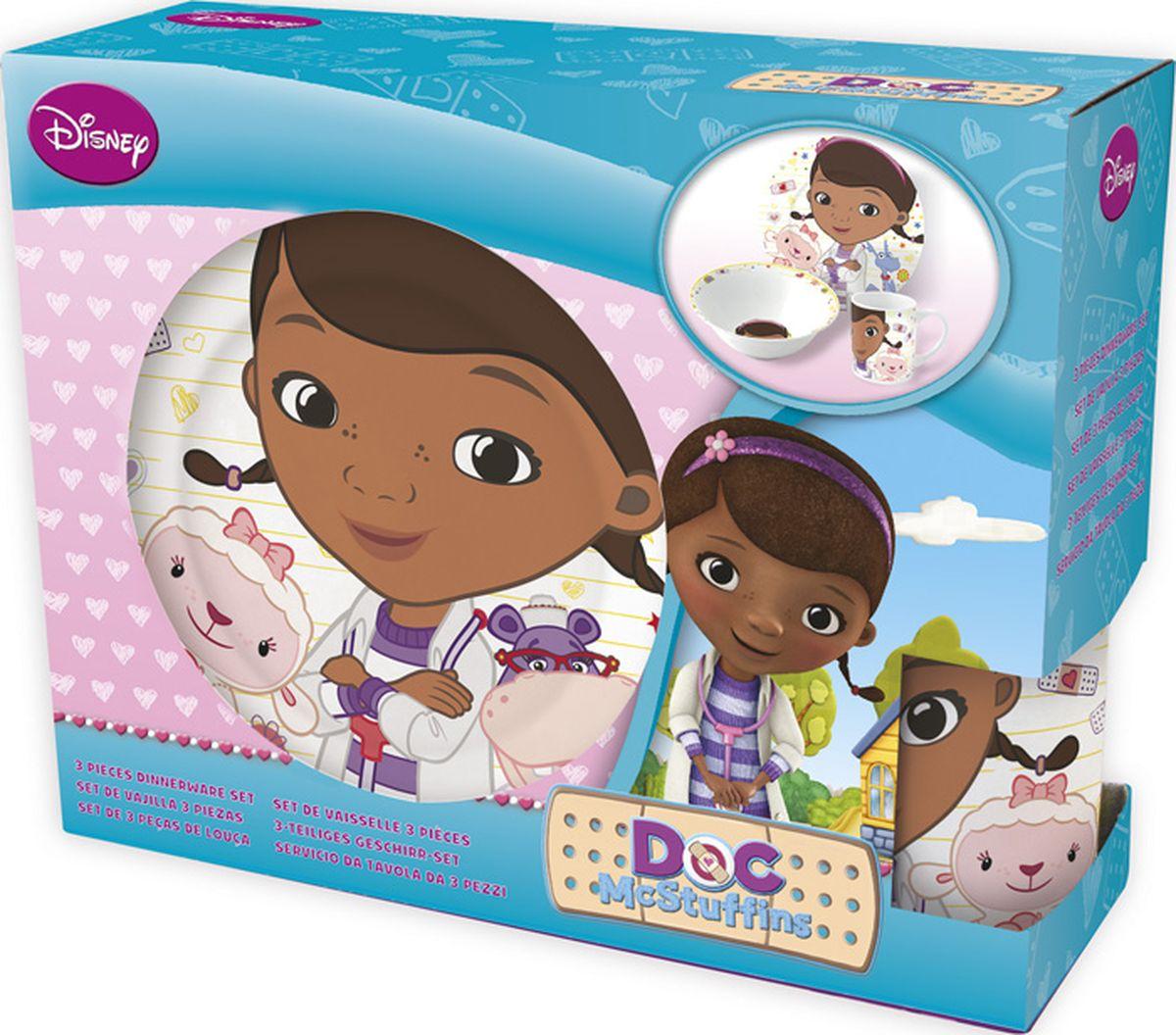 Disney Набор детской посуды Доктор Плюшева 3 предмета