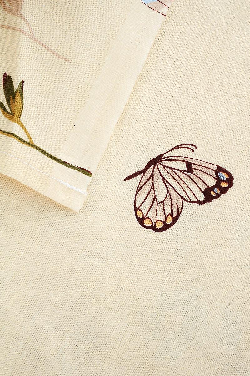 """Комплект белья Олеся """"Бабочки"""", 2-спальный, наволочки 70 х 70, цвет: молочный"""