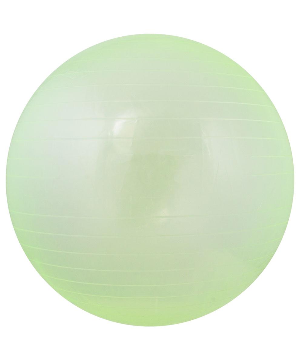 """Мяч гимнастический Star Fit """"GB-105"""", цвет: прозрачный, зеленый. Размер 55 см"""