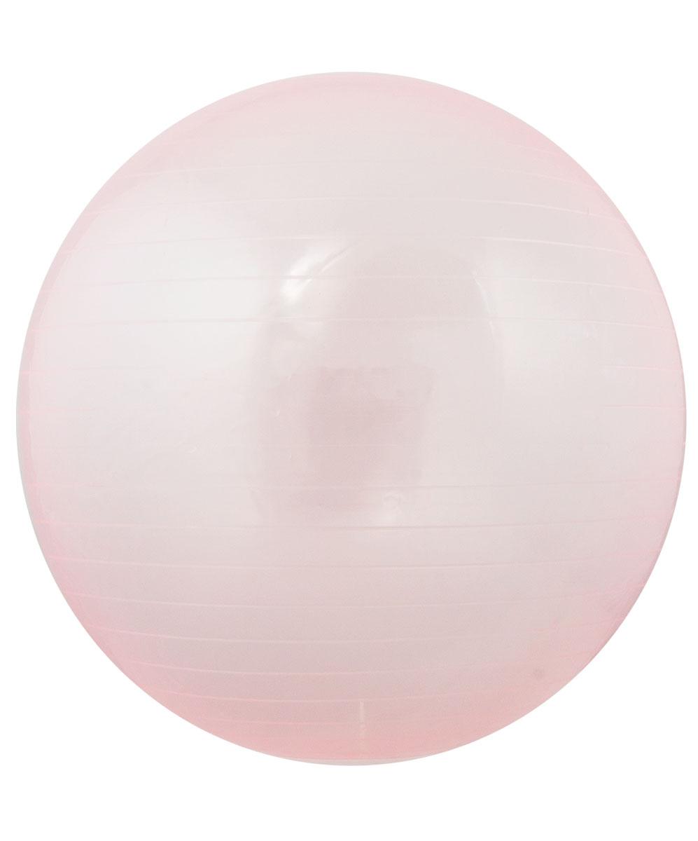 """Мяч гимнастический """"Star Fit"""", цвет: прозрачный, розовый, диаметр 75 см"""
