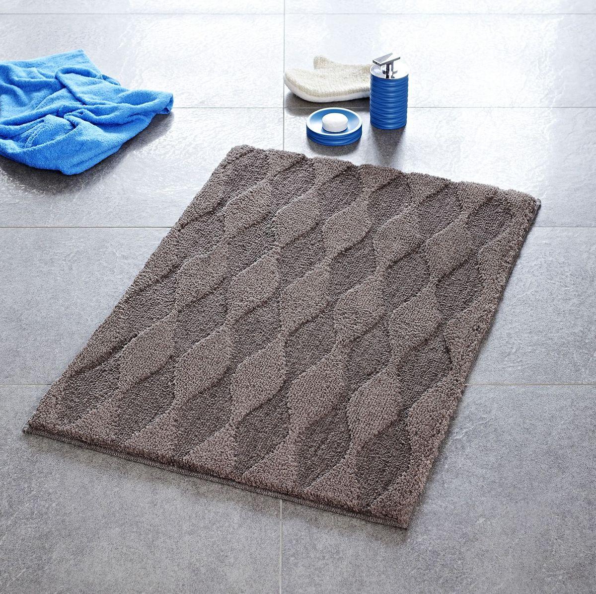 """Коврик для ванной Ridder """"Melange"""", цвет: коричневый, 55 х 50 см"""